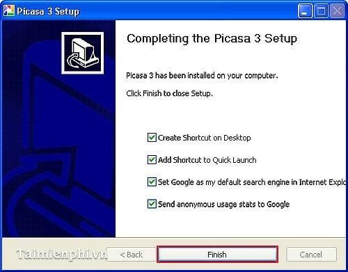 Cách cài đặt Picasa