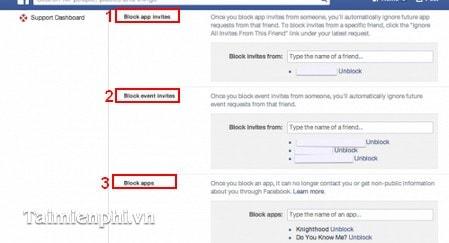 Chặn lời mời chơi các ứng dụng facebook