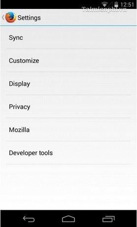 Firefox 29 - Đồng bộ dữ liệu giữa desktop và Android