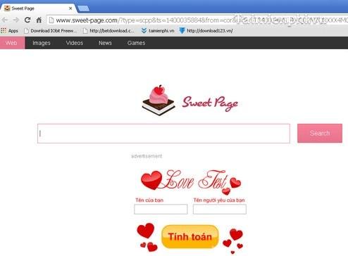 loai bo trang sweet-page.com cho trinh duyet firefox va chrome