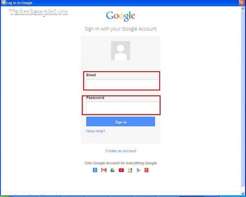How to upload him picasa