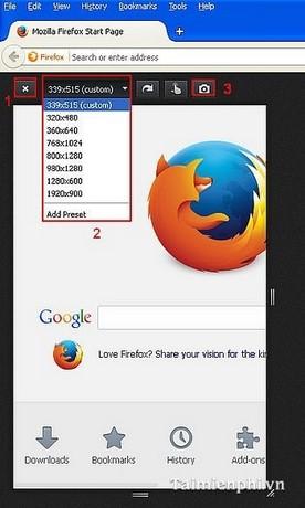 """Duyệt Web ở chế độ """"thiết kế đáp ứng"""" - Responsive Web Design trên Firefox"""