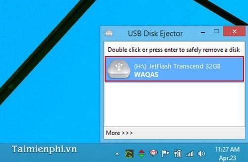 ngat ket noi an toan voi phan mem USB Disk Ejector