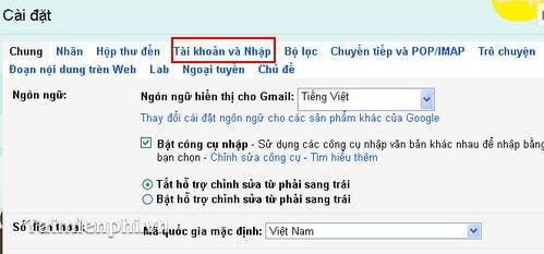 thay doi mat khau gmail