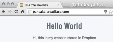 Tạo tên miền tĩnh trong Dropbox với Pancake