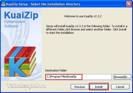 How to install the file compression software KuaiZip