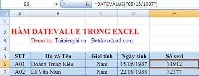 H 224 M Datevalue Trong Excel H 224 M Chuyển đổi Ng 224 Y Th 225 Ng Sang