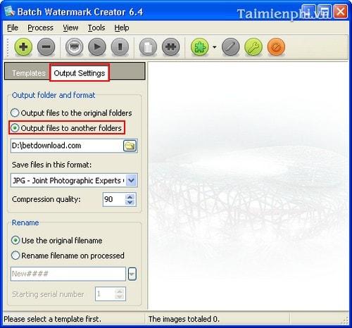 Cách sử dụng phần mềm đóng dấu ảnh Batch Watermark Creator