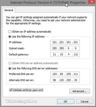 Change ip address for windows 7 and 8 1