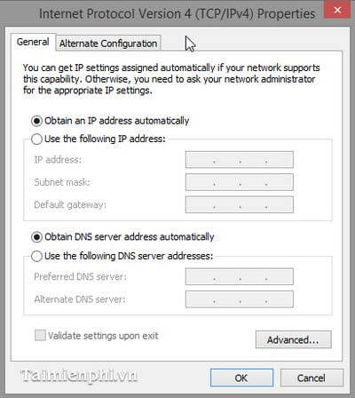 Thay đổi địa chỉ ip cho Windows 10, 8.1 và 7 6