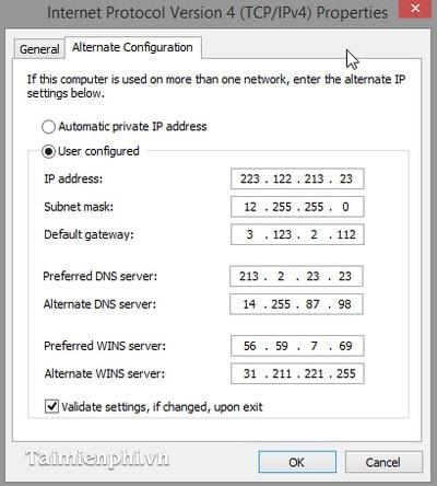 Thay đổi địa chỉ ip cho Windows 10, 8.1 và 7 8