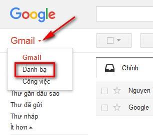 quan ly danh ba trong gmail