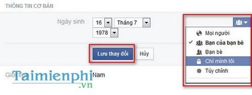 cach an thong bao sinh nhat tren Facebook