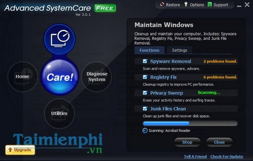 bao ve may tinh chuyen nghiep voi advanced systemcare free