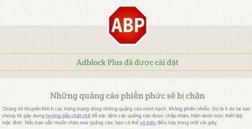 Cài Adblock, Addons chặn quản cáo trên trình duyệt Google Chrome, Firefox