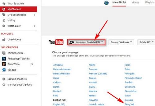Cai language for youtube