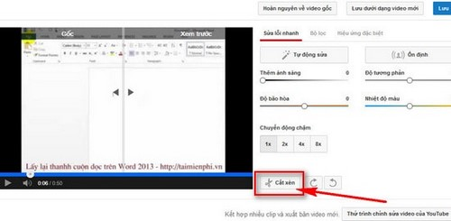 Cắt video youtube online, cắt video online trên youtube 3