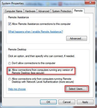 remote desktop trong LAN