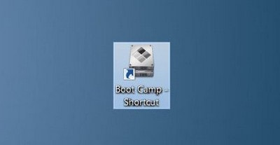 Get the Boot Camp icon in the Taskbar