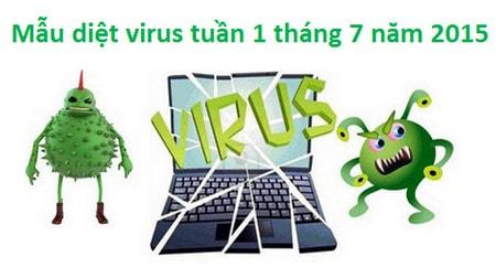mau virus, phan mem doc hai tuan 1 thang 7 nam 2015