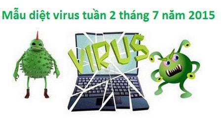 mau virus, phan mem doc hai tuan 2 thang 7