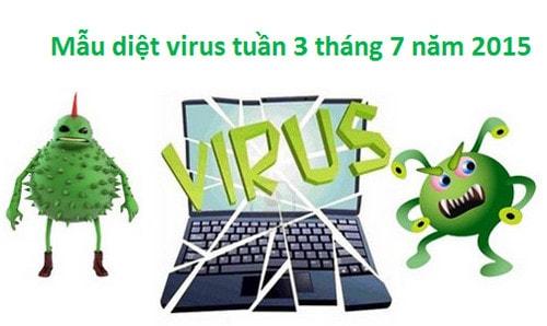 mau virus, phan mem doc hai tuan 3 thang 7