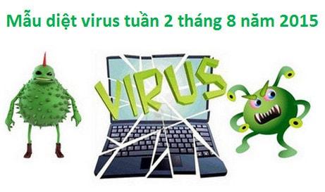 mau diet virus, phan mem doc hai tuan 2 thang 8 nam 2015