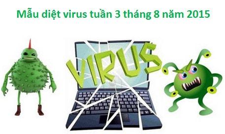 mau virus, phan mem doc hai tuan 3 thang 8 nam 2015