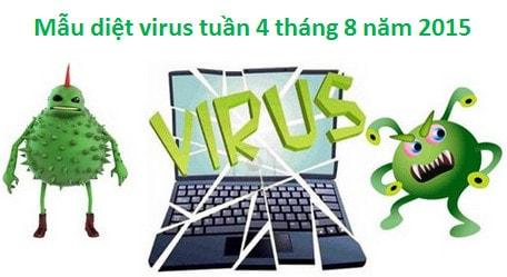 mau virus, phan mem doc hai tuan 4 thang 8