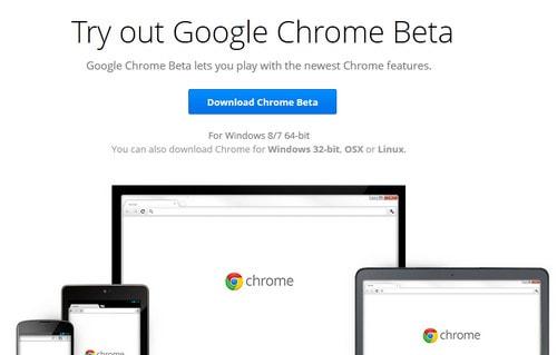 Tải Chrome 64Bit Beta dành cho người dùng Windows 64Bit, windows 7,8 6