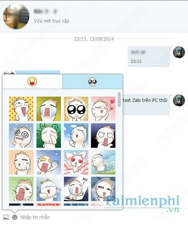 phan mem chat zalo tren laptop