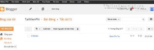 Hướng dẫn thiết kế, làm Blogspot nhanh và đơn giản