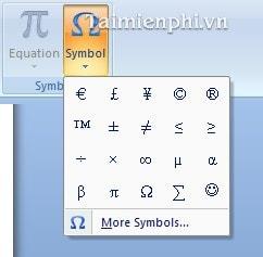 Cách chèn các kí tự đặc biệt vào file văn bản 2