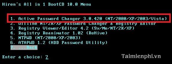 Cách đăng nhập Windows khi quên mật khẩu, password