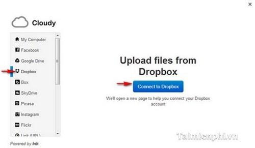 Đính kèm file từ Dropbox vào Gmail