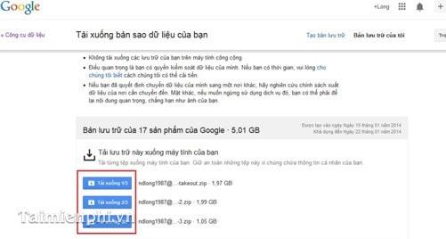hướng dẫn sao lưu, backup dữ liệu trên Google+
