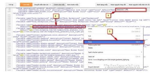 Hướng dẫn tạo, chèn hình nền Blog đẹp