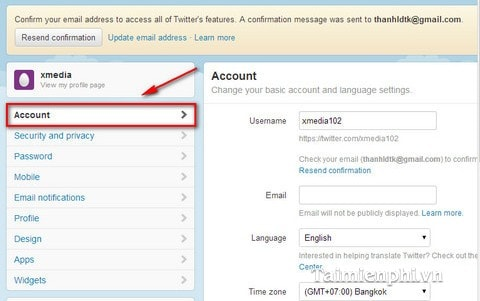 2. Log into your account