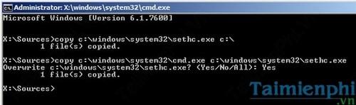 Quên mật khẩu Windows 7, Cách Reset, lấy lại mật khẩu, Phá password đăng nhập 15