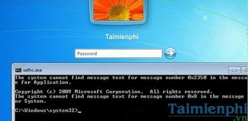 Quên mật khẩu Windows 7, Cách Reset, lấy lại mật khẩu, Phá password đăng nhập 16