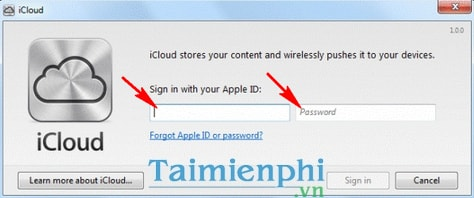 Cài đặt và sử dụng iCloud Control Panel trên Windows