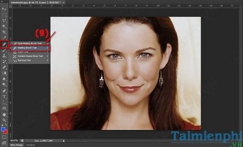 Cách làm mịn da bằng Photoshop 11
