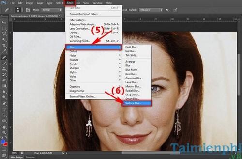 Cách làm mịn da bằng Photoshop 7