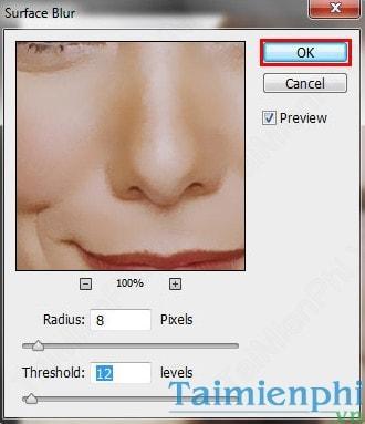 Cách làm mịn da bằng Photoshop 8