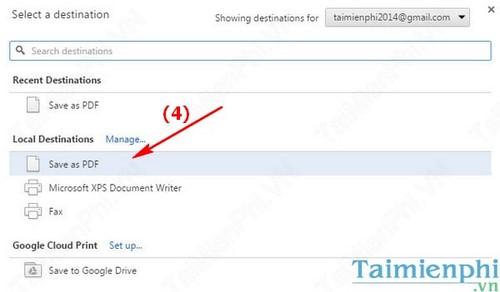 Cách lưu trang Web thành file PDF trên Google Chrome