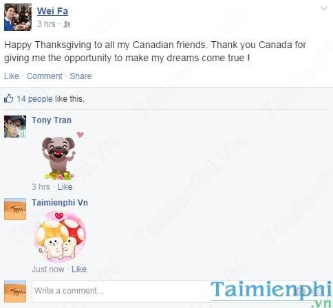 Hướng dẫn tải và sử dụng Sticker chat, bình luận trên Facebook