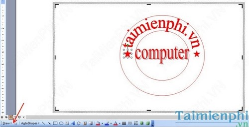 Hướng dẫn tạo Logo con dấu đơn giản với WORD & PAINT 11