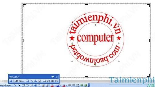 Hướng dẫn tạo Logo con dấu đơn giản với WORD & PAINT 15