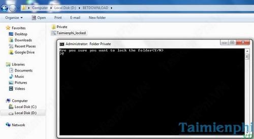 Đặt mật khẩu thư mục, bảo vệ folder trên máy tính không cần phần mềm 5