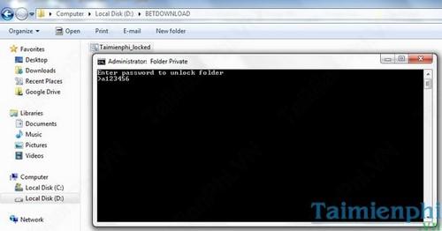 Đặt mật khẩu thư mục, bảo vệ folder trên máy tính không cần phần mềm 6